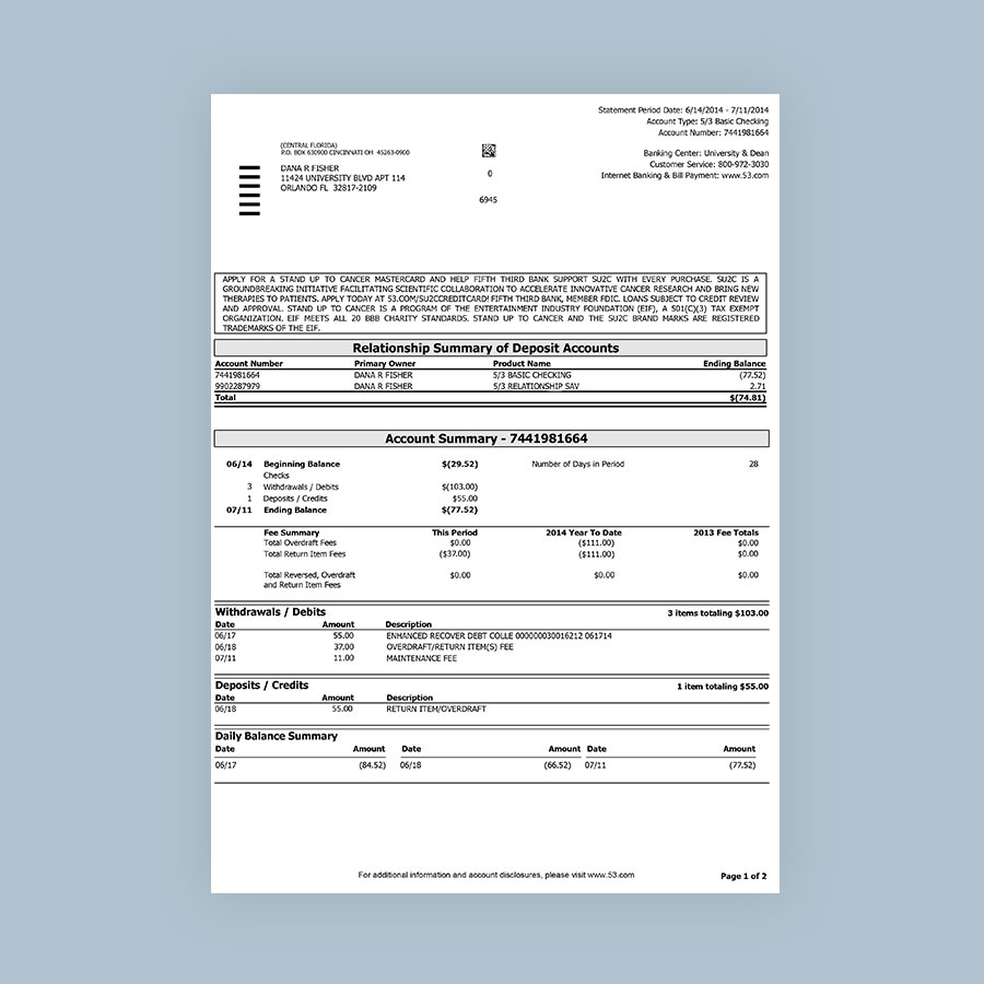 Barclay Bank Statement Template
